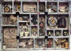 Tim Holtz Configuration Tray by Tiffany at Creationz