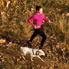 The perfect leash for running with your furry friend.  At 30 inches, it stretches an additional 6 inches with the internal bungee cord.