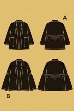 **** 5 patrons couture pour débutantes ET grandes tailles ****   Elodie Blueberry