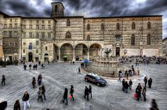 """One year in Perugia, Italy. Sitting on those steps was """"the thing"""" to do. Perugia Italy, Umbria Italy, Places Around The World, Oh The Places You'll Go, Places Ive Been, Italy Travel, Traveling Tips, Vacation, Study Abroad"""