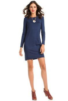 Bellingham Dress - Trina Turk in Blue, Black, Dark Red - $198.00