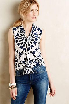 Pinwheel Sleeveless Buttondown - anthropologie.com #anthroregistry