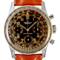 The first generation Navitimer came in the early 50s, they had Arabic numerals, black dials and sub-dials. The second generation shows silver sub-dials and index instead of numbers. Many early Navitimers didn't have the Breitling logo but the AOPA wing on the dial. Some rare dials show the AOPA wings and the letter B instead of the Breitling logo.  Breitling has been a leading innovator in high quality stopwatches and chronographs and helped define how chronographs look and function until…