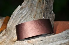 Chocolate Brown Color Cowhide leather bracelet $6.00