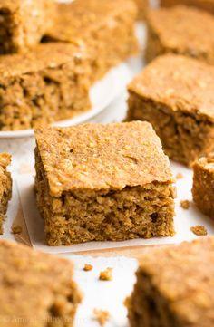 Healthy Pumpkin Oatmeal Snack Cake