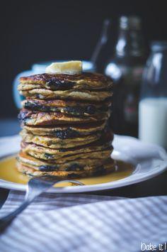 Blueberry Banana Pancakes Blueberry, Banana, Breakfast, Food, Food Food, Morning Coffee, Berry, Eten, Bananas