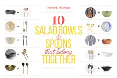 10 Salad Bowls and Servers That Belong Together — Perfect Pairings