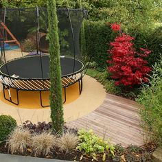 Garden Design Children S Play Area backyard play area ideas |  flooring and a rubber swing seat to