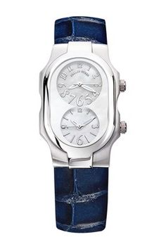 Phillip Stein Small Signature Quartz Dual Time Watch
