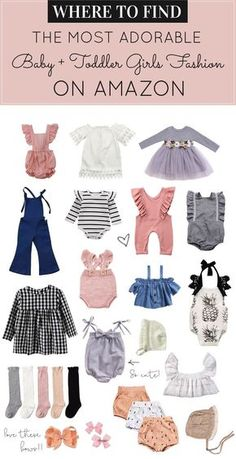 d8e1a13b76 Searching for adorable baby girl and toddler outfits and accessories on a  budget  Did you