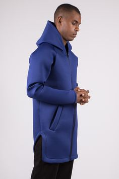 Longline Asymmetric Neoprene Hoodie €74,90 #aristotelibitsiani #hoodie #neoprene