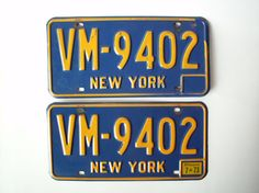 Vintage 1970's New York NYC License Plates by PoorLittleRobin, $50.00