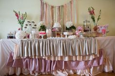 Shabby Chic Party via Kara's Party Ideas | Placement and stacking of boxes