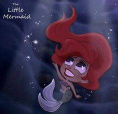 Disney Chibi: The Little Mermaid Kawaii Disney, Ariel Disney, Disney Magic, Disney Dream, Disney Amor, Chibi Disney, Gif Disney, Cute Disney, Mermaid Disney