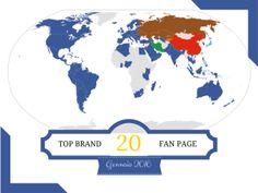 La classifica delle Brand Fan Page più seguite al mondo