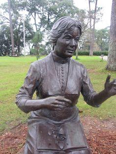 Marietta Johnson Statue  Overlooking Mobile Bay  http://www.fairhopesupply.com/2013/01/marietta-johnson-statue.html  Fairhope Supply Co.