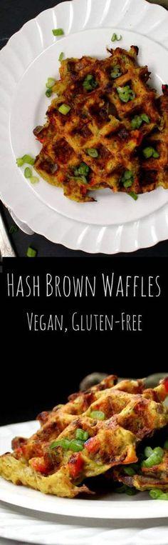 Vegan Hash Brown Waffles #vegan #waffles #breakfastrecipes - HolyCowVegan.net