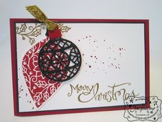 Stampin' Up! by Stampin Jacqueline: Embellished Ornaments en Delicate Ornament Thinlits Dies, deel 3