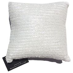 Nicole Miller Chevron Beaded Decorative Toss Pillow Cover Bugle Beads Accent Throw Pillow Cushion Cover 11 by 11-inch White Ivory Hand Made Cushion Cover http://www.amazon.com/dp/B00Z7O8ICQ/ref=cm_sw_r_pi_dp_0.aEvb05WDTN5