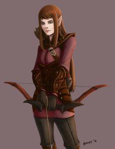 f Elf Ranger leather bow urban C: Selitae Aethesti by bchart.deviantart.com on @DeviantArt