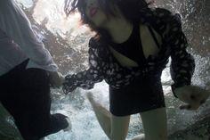 Wedding photo shoot underwater!