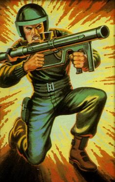 Blister card artwork for Zap, a bazooka soldier who was one of the original members of the G.I.Joe team (Hasbro, 1982)