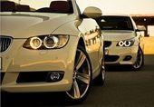 BMW 3 series and 5 series white Bmw White, Cars, Vehicles, Garage, Cutaway, Luxury Cars, Lights, Carport Garage, Autos