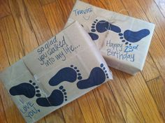 """Love this idea for a shoebox. Wrapping paper when gifting shoes for a husband, boyfriend, or significant other. Great for a birthday or anniversary. """"So glad you walked into my life..."""" 