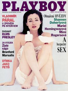 Playboy (Czech Republic) October 1994  with Shannen Doherty on the cover