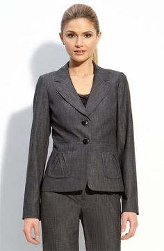 Kibbes Soft Classic...I am so in love with grey suits! Perfect for my Soft Summer complexion and Soft Classic Style!