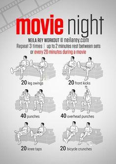 Movie Night wworkout