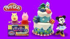 Play Doh Peppa Pig Cake Dough -  Play doh Christmas snowman -Tarta de Cu...