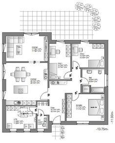 Die Hauskreation Bungalow von Ö-Haus bietet leben auf einer Ebene.