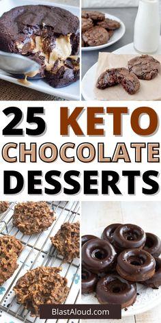 Ketogenic Desserts, Low Carb Desserts, Keto Snacks, Ketogenic Diet, Low Carb Recipes, Healthier Desserts, Diet Recipes, Keto Chocolate Cake, Low Carb Chocolate
