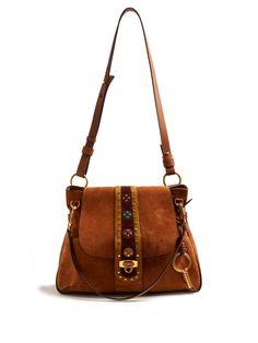 Chloé Lexa medium suede shoulder bag