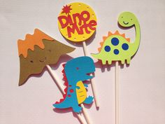 Set Of 12 Dinosaur Themed Cupcake Toppers great for Baby Showers,Birthday Parties, T-Rex.