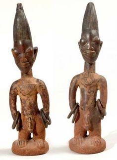 Yoruba Ere Ibeji (Twin Figure), Igbomina - Ila Orangun, Nigeria http://www.imodara.com/item/nigeria-yoruba-ere-ibeji-twin-figure-igbomina-ila-orangun/