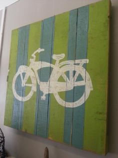 A vintage-inspired bike sign art available at Rusty NChippy's.