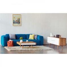 Sideboard Loca I - Wildeiche massiv - Weiß / Wildeiche - 180 cm