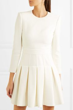 dd540455cdac3 Alexander McQueen - Wool-blend cady mini dress. IvoireNet A PorterLittle White  DressesDry ...