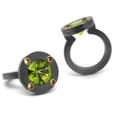 www.ORRO.co.uk - Wesley Zwiep – Peridot Saturn Ring - ORRO Contemporary Jewellery Glasgow...