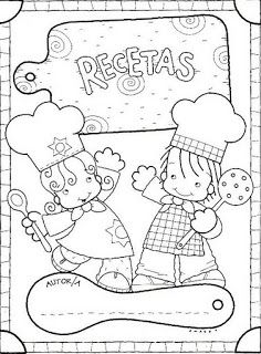 Menta Más Chocolate - RECURSOS PARA EDUCACIÓN INFANTIL: Actividad: Libro RECETARIO Adult Coloring, Coloring Books, Coloring Pages, Cookbook Cover Design, Activities For Kids, Crafts For Kids, Writing Activities, Baby Club, Chef Party