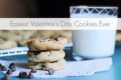 Need a quick and easy Valentine for your Valentine? You know all those fancy Pinterest-y cookies and desserts you see and wish you could make? These are not those…but these cookies are the easiest things you can bake. Want to know how to wow your man and/or sisters with these melt-in-your-mouth delights? All you need is some store bought cookie mix and a heart shaped baking pan! Simply follow our step-by-step photo tutorial and the instructions on the back of the box!!