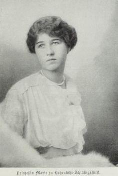 Princesse Franziska de Hohenlohe-Waldenburg (1897-1989) épouse de l'archiduc Maximilien d'Autriche (1895-1952)
