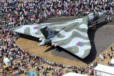"bmashine: ""Avro Vulcan B. 2 is surrounded by spectators at the air show "" Military Jets, Military Aircraft, Military Weapons, Vickers Valiant, V Force, Avro Vulcan, Falklands War, Event Services, Military Equipment"
