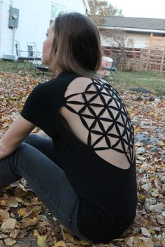Sacred geometry seed of life cutout backless by EclipseCrafting, $20.00
