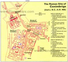 Conimbriga - Roman Site Map