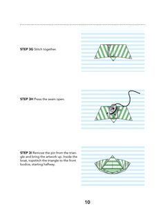 Origami Boat Artwork PDF Sewing Pattern - Misusu Patterns