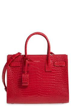 Saint Laurent Baby Sac de Jour Croc Embossed Calfskin Leather Tote    Nordstrom 325b977e7b