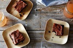 Maya's Chocolate Fudge Sheet Cake from Alice Medrich.  Gluten-Free.  Heavy Cream Milk Chocolate Frosting